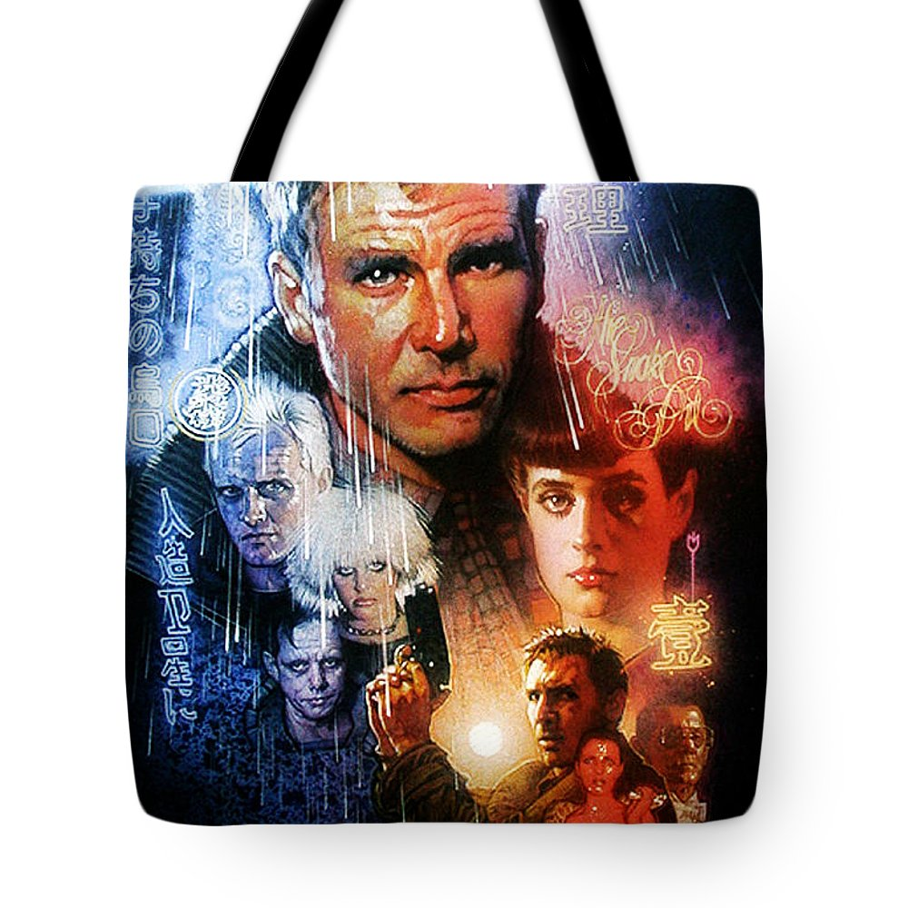 Blade Runner 1982 Tote Bag featuring the digital art Blade Runner 1982 1 by Geek N Rock