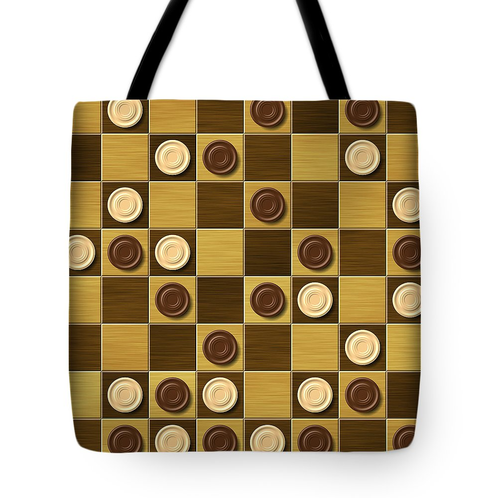 Checkerboard Tote Bag featuring the digital art Checkerboard Generated Seamless Texture by Miroslav Nemecek