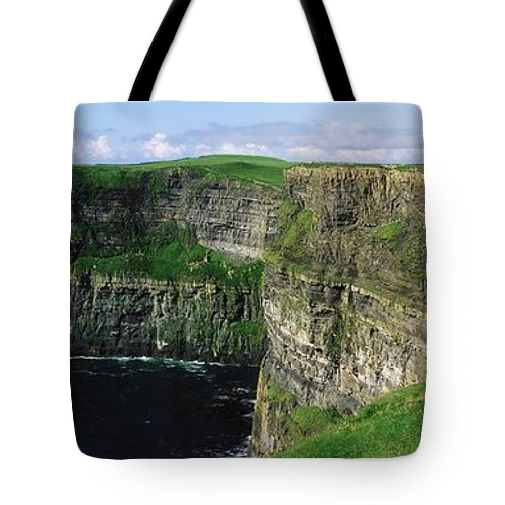 Beauty In Nature Tote Bag featuring the photograph Cliffs Of Moher, Co Clare, Ireland by The Irish Image Collection