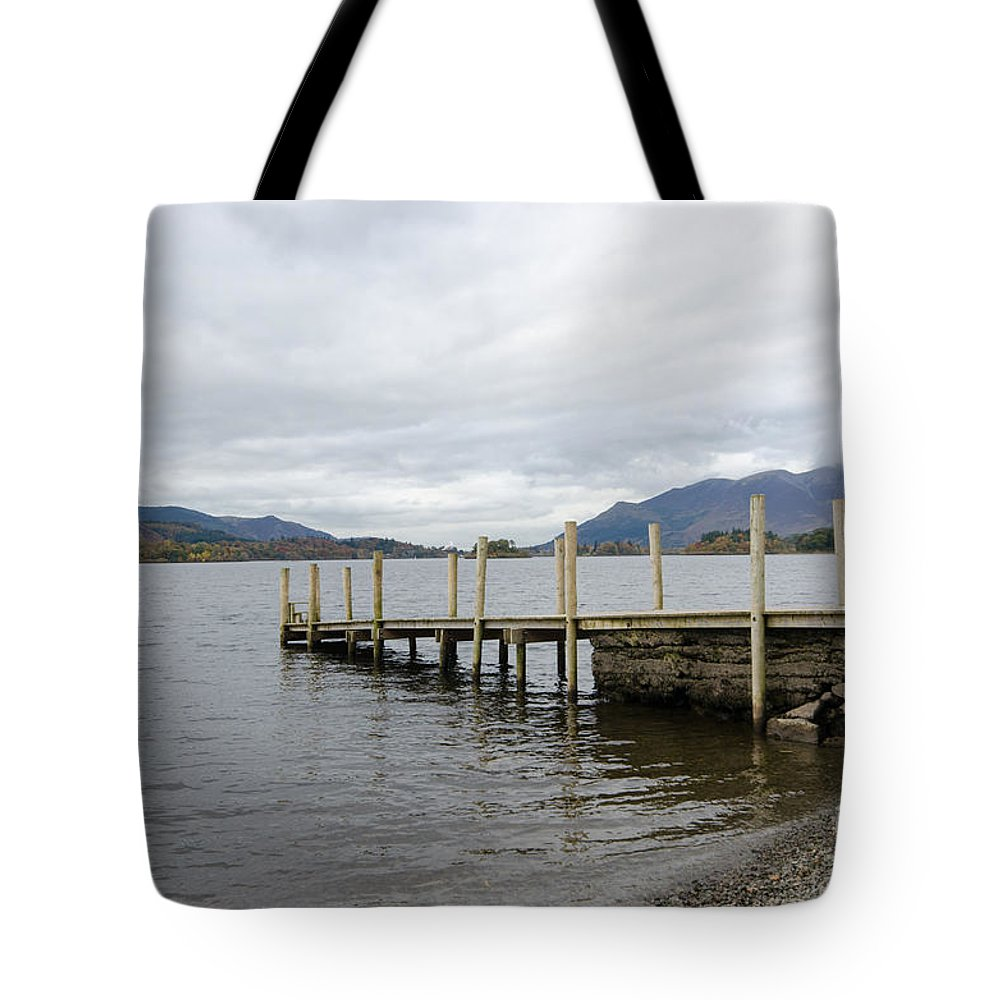 Lake Tote Bag featuring the photograph Derwentwater by Smart Aviation