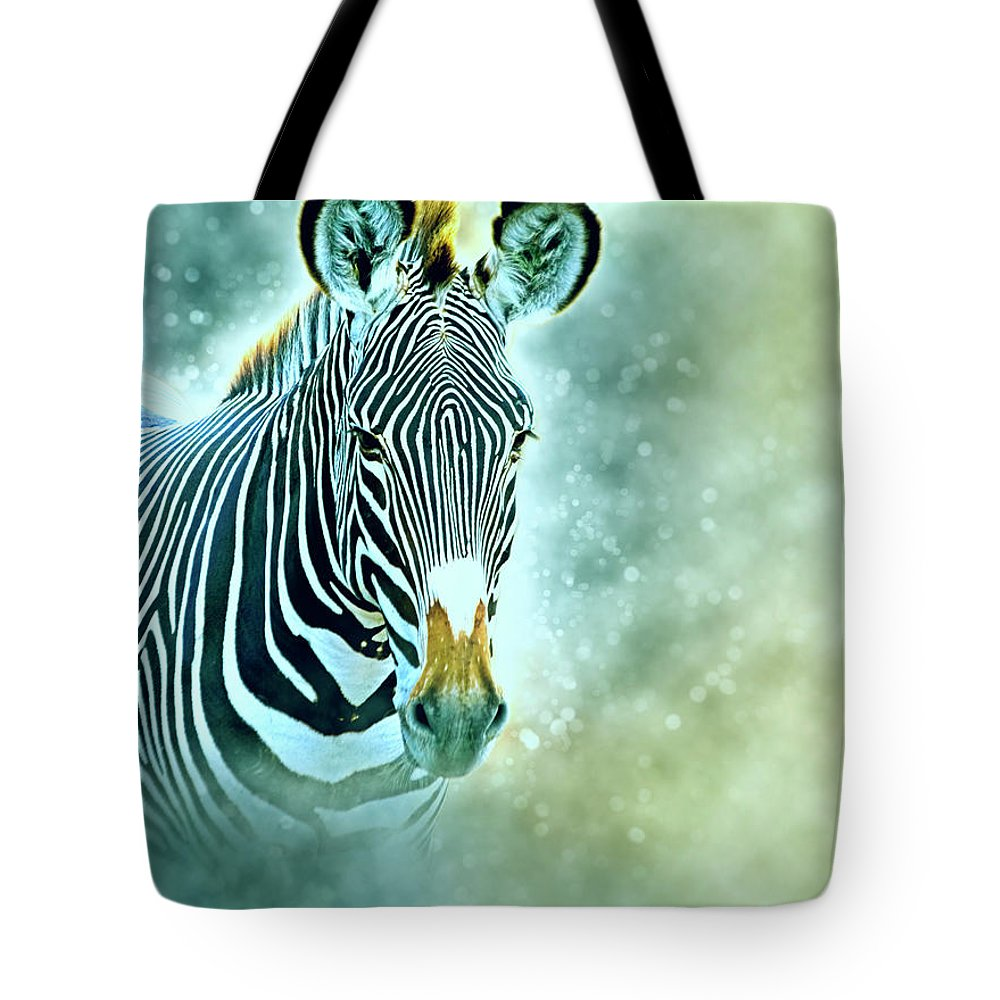 Grevys Zebra Tote Bag featuring the photograph Grevys Zebra, Samburu, Kenya by Humorous Quotes