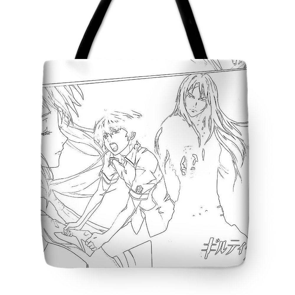 Guilty Crown Tote Bag featuring the digital art Guilty Crown by Lora Battle