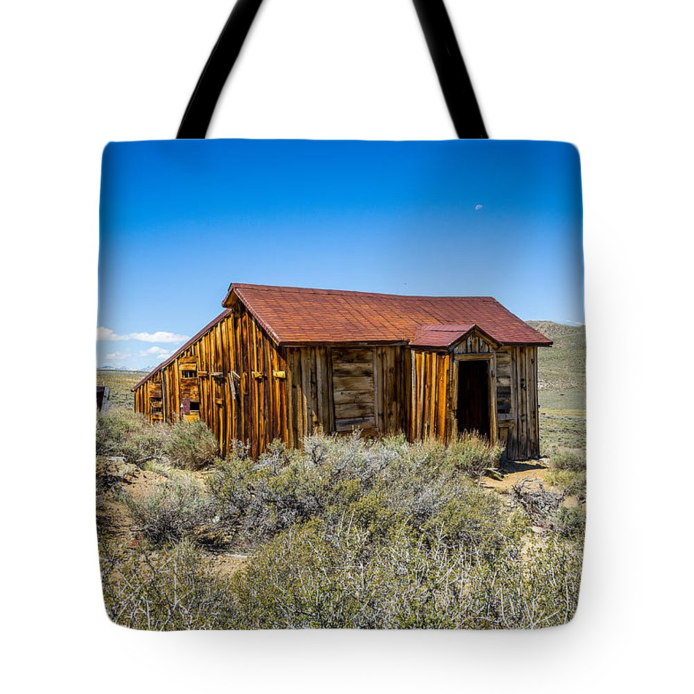 Bodie Tote Bag featuring the photograph Homestead, Bodie Ghost Town by John Bosma