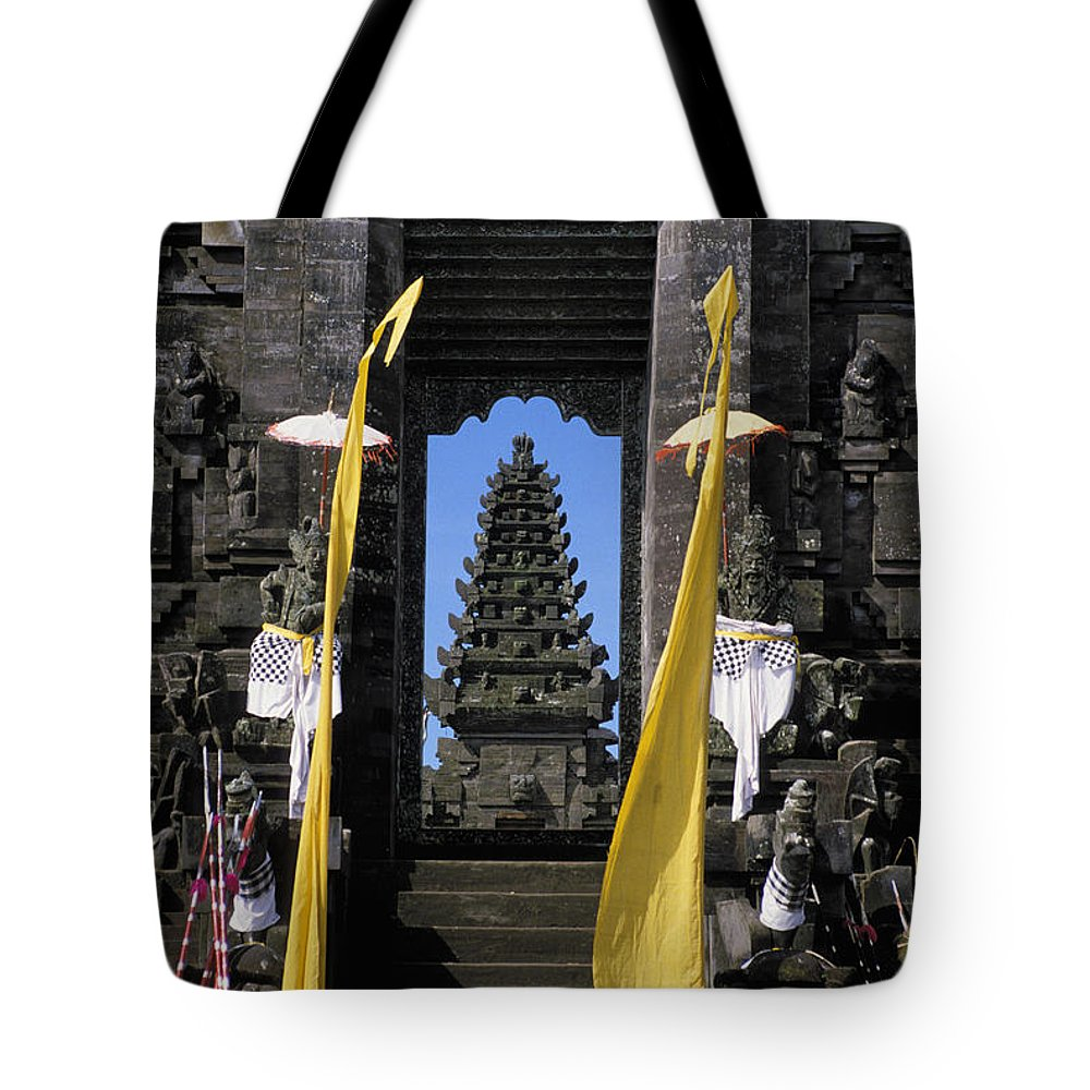 Ancient Tote Bag featuring the photograph Indonesia, Bali by Gloria & Richard Maschmeyer - Printscapes
