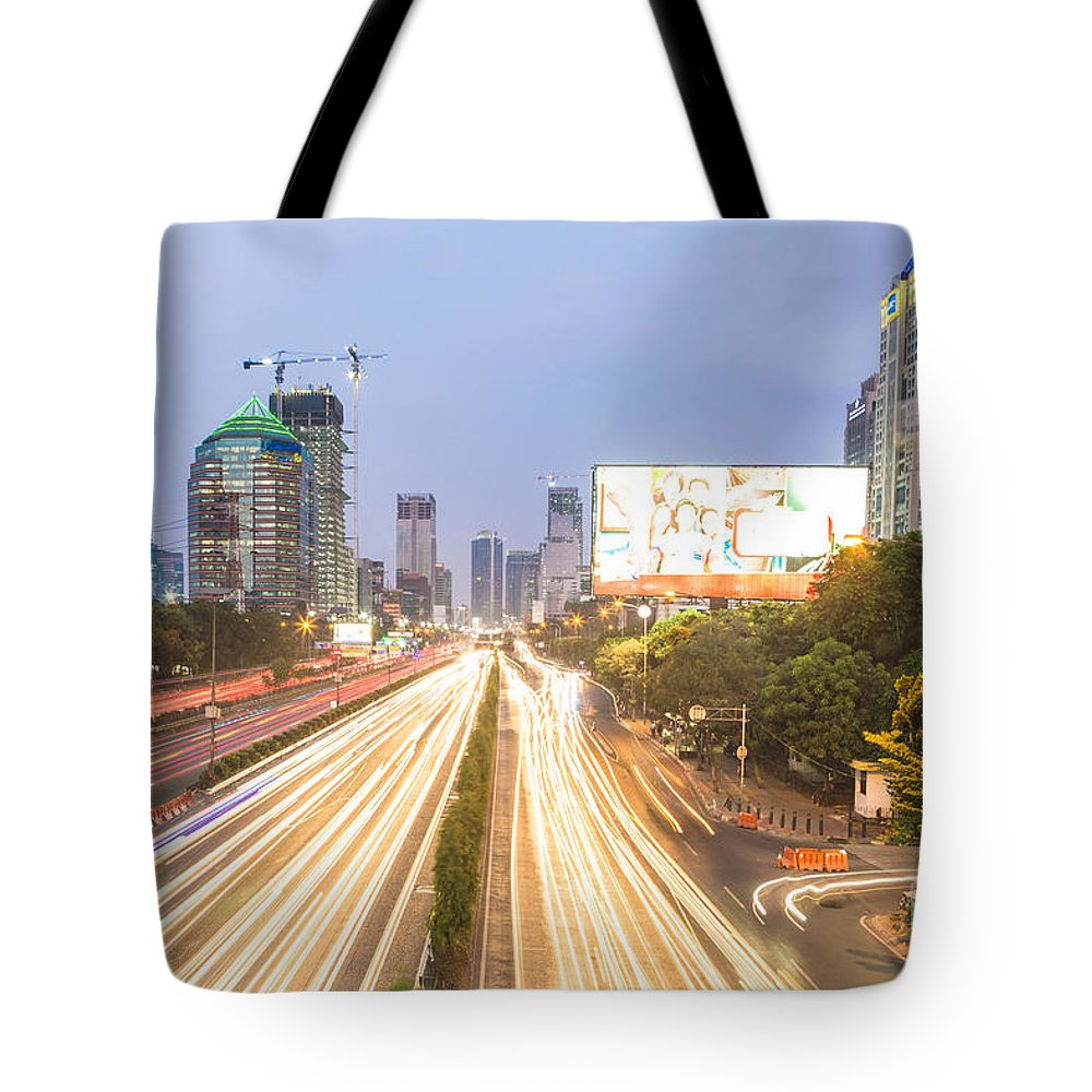 Indonesia Tote Bag featuring the photograph Jakarta Twilight by Didier Marti