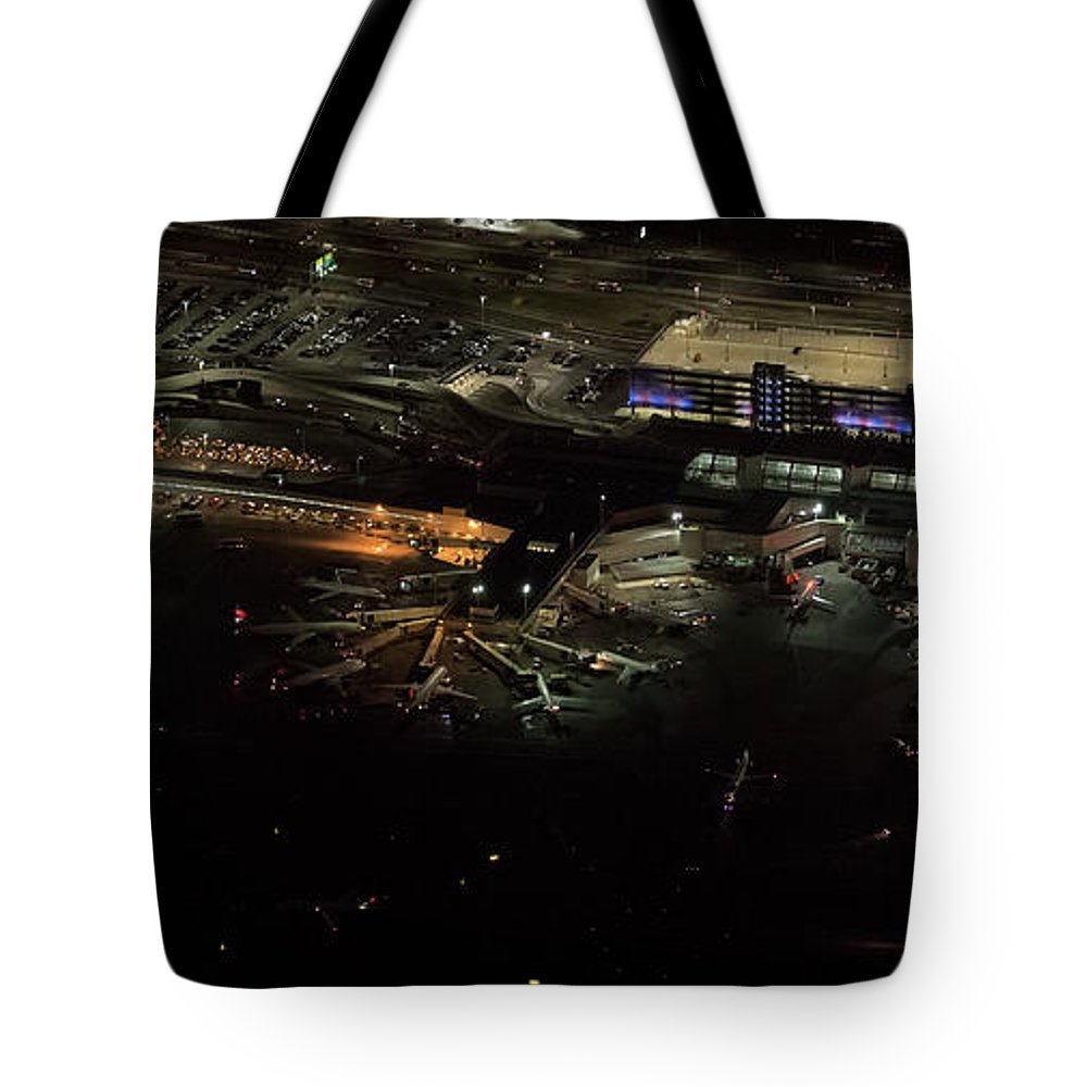 Lga Tote Bag featuring the photograph Laguardia Airport Aerial View by David Oppenheimer
