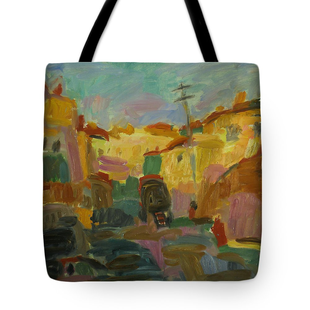 Summer Tote Bag featuring the painting Rostov by Robert Nizamov