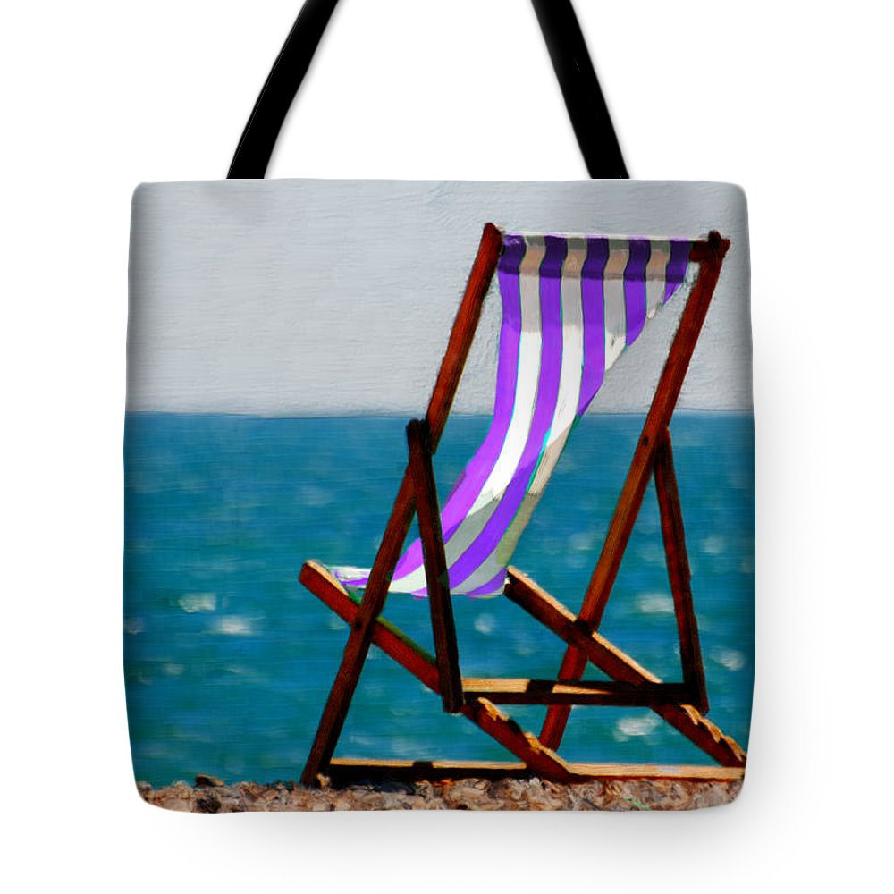 Beach Tote Bag featuring the painting Lounging In Long Beach by Bruce Nutting