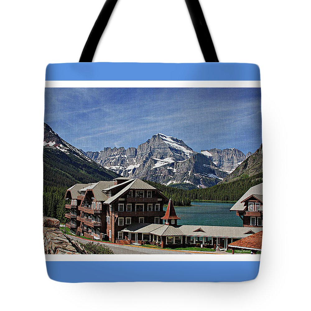 Many Tote Bag featuring the photograph Many Glacier Hotel by Margie Wildblood