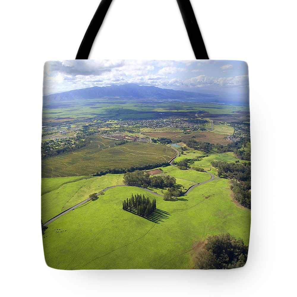 Aerial Tote Bag featuring the photograph Maui Aerial by Ron Dahlquist - Printscapes