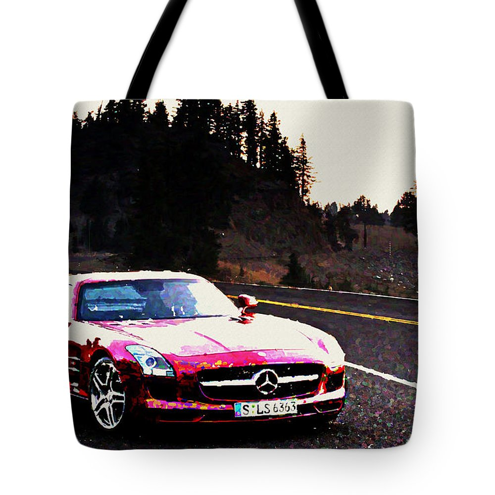Mercedes Tote Bag featuring the digital art Mercedes by Lora Battle