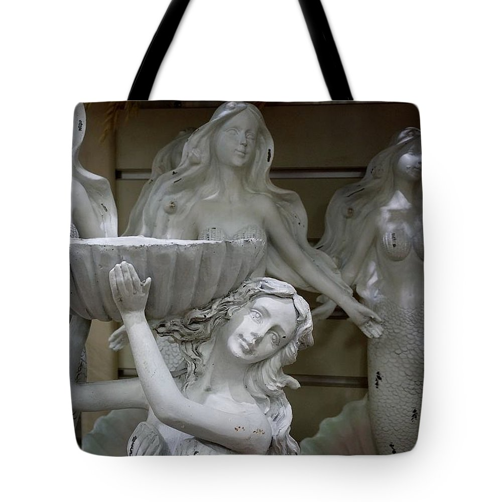 Mermaids Tote Bag featuring the photograph 4 Mermaids by Rob Hans