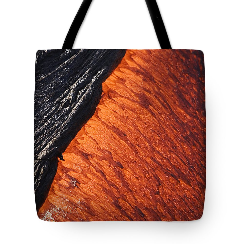 Active Tote Bag featuring the photograph Molten Pahoehoe Lava by Ron Dahlquist - Printscapes