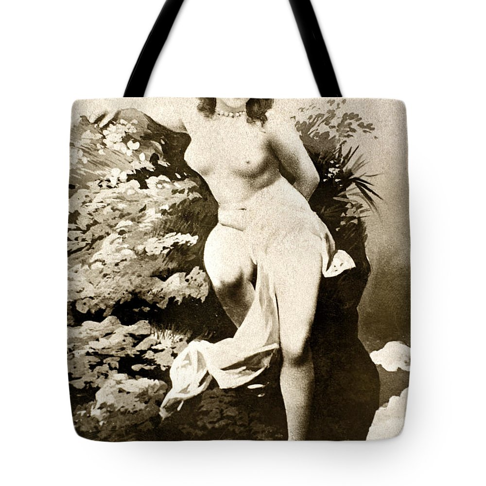 1900 Tote Bag featuring the painting Nude Posing, C1900 by Granger