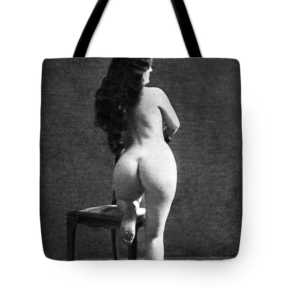 Tote Bag featuring the painting Nude Posing: Rear View by Granger