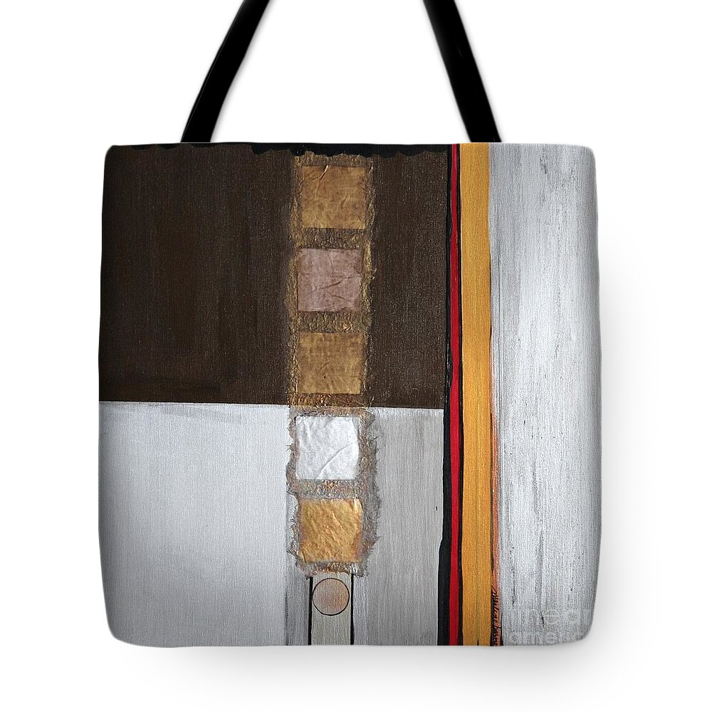 Sets Tote Bag featuring the painting 4 Perplex 2 by Marlene Burns
