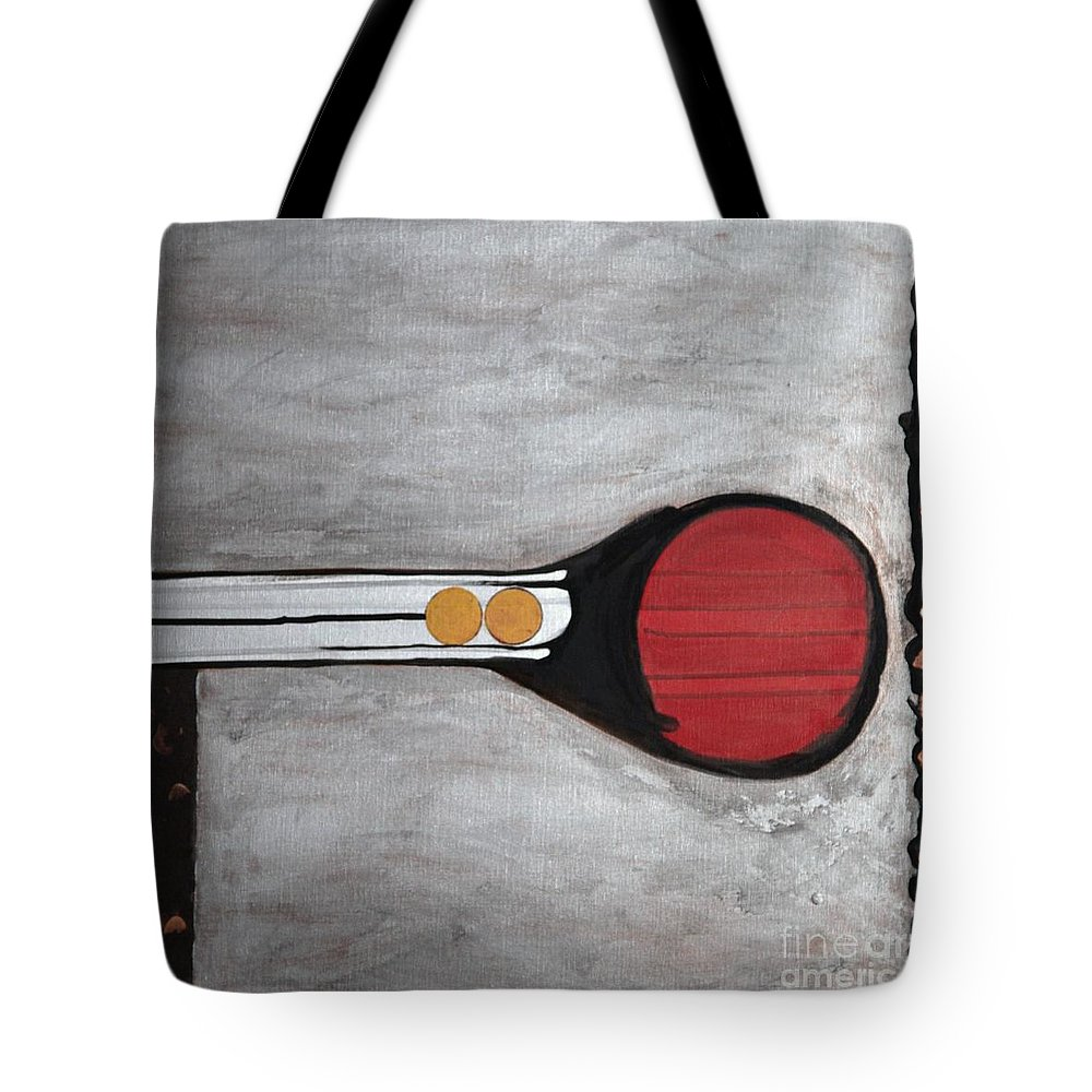 Sets Tote Bag featuring the painting 4 Perplex 3 by Marlene Burns