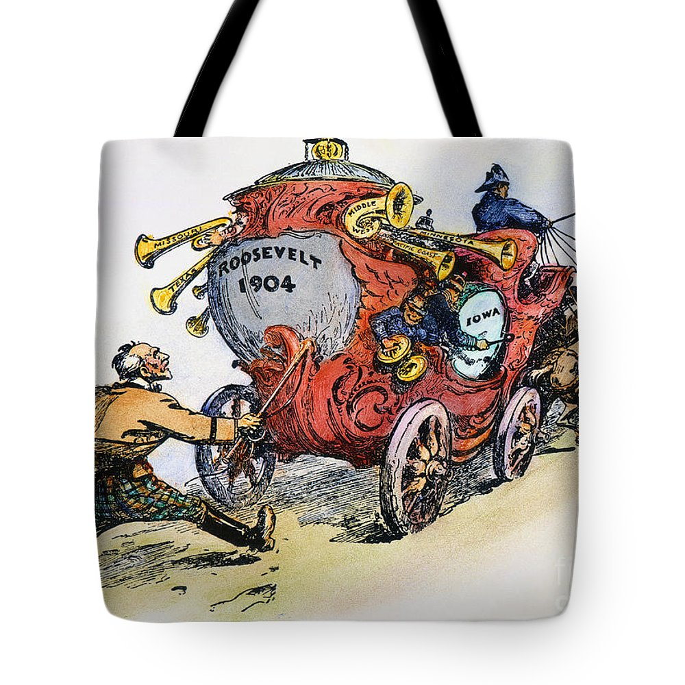 1902 Tote Bag featuring the photograph Presidential Campaign 1904 by Granger