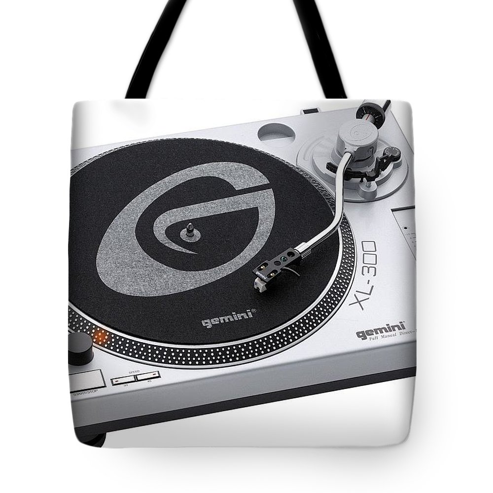 Record Tote Bag featuring the digital art Record by Mery Moon