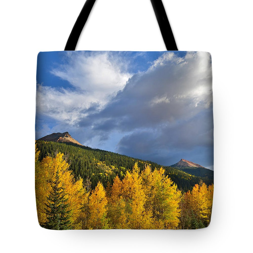 Colorado Tote Bag featuring the photograph Red Mountain Sunset by Ray Mathis