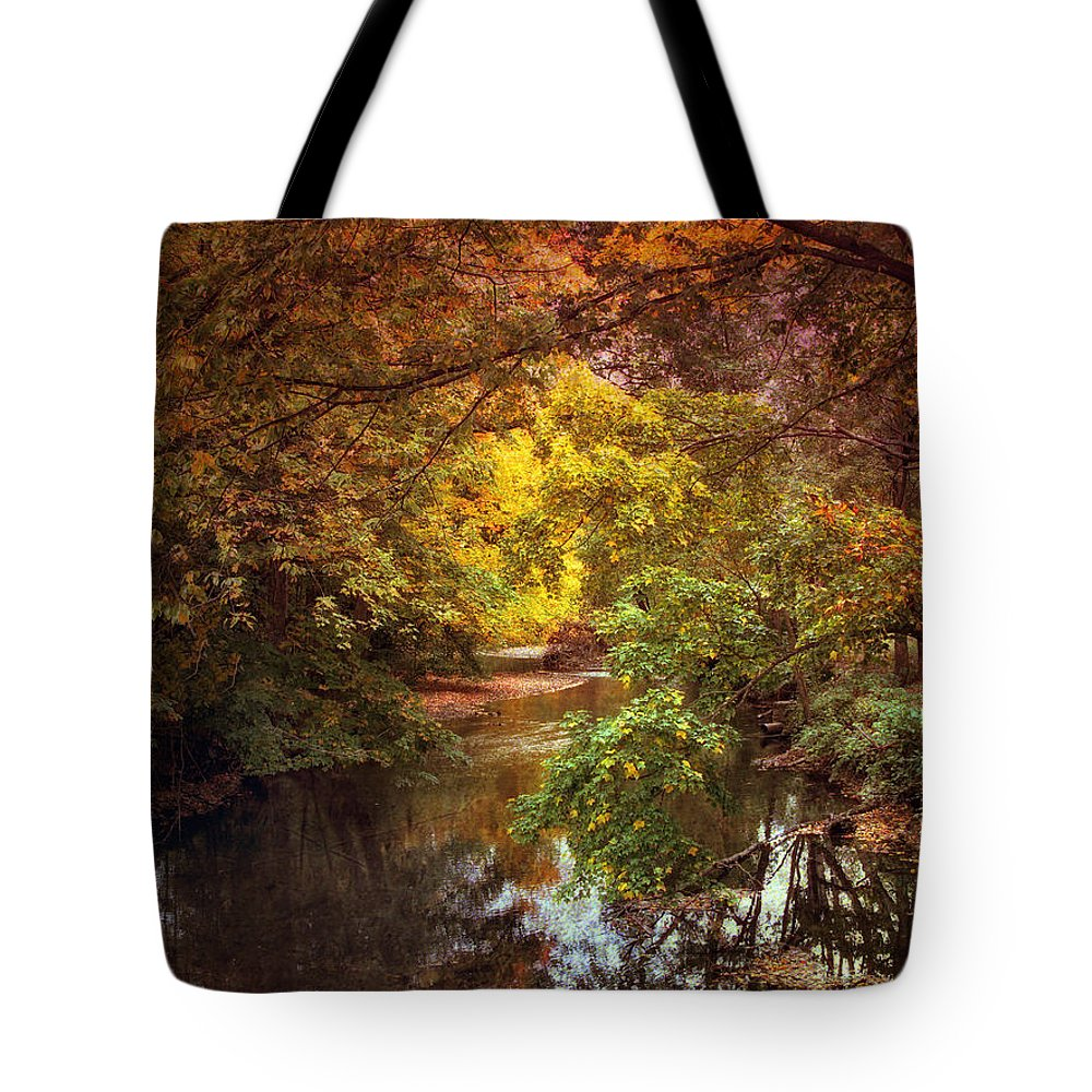Autumn Tote Bag featuring the photograph River View by Jessica Jenney