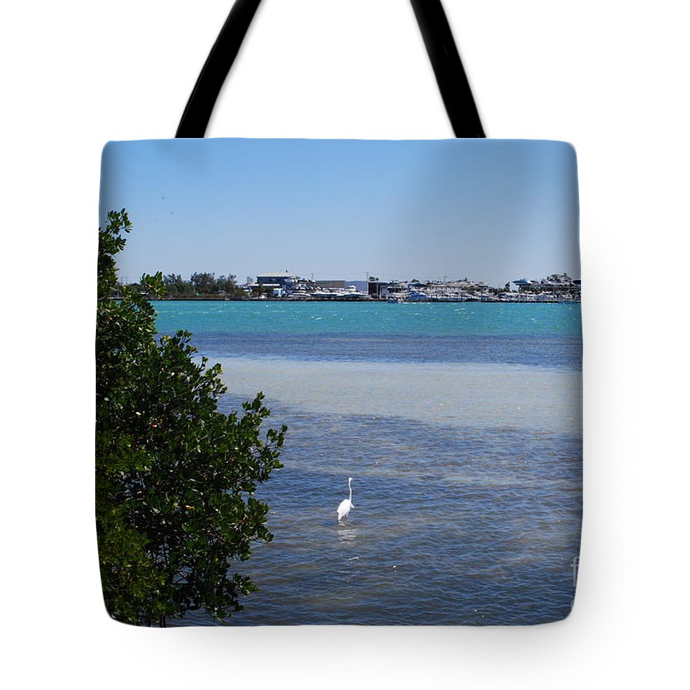 White Tote Bag featuring the photograph Sarasota Bay by Gary Wonning