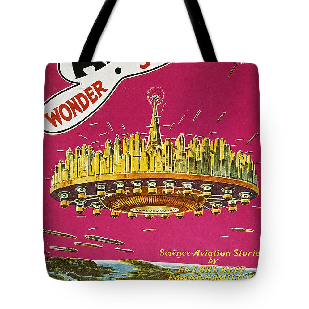 1929 Tote Bag featuring the photograph Science Fiction Magazine by Granger