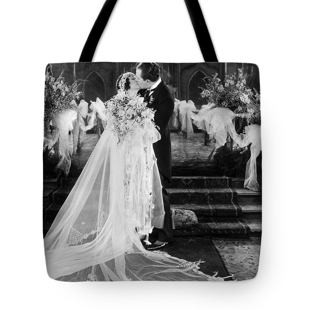 -weddings & Gowns- Tote Bag featuring the photograph Silent Film Still: Wedding by Granger