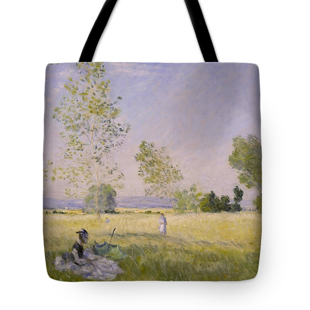 Claude Monet Tote Bag featuring the painting Summer by Claude Monet