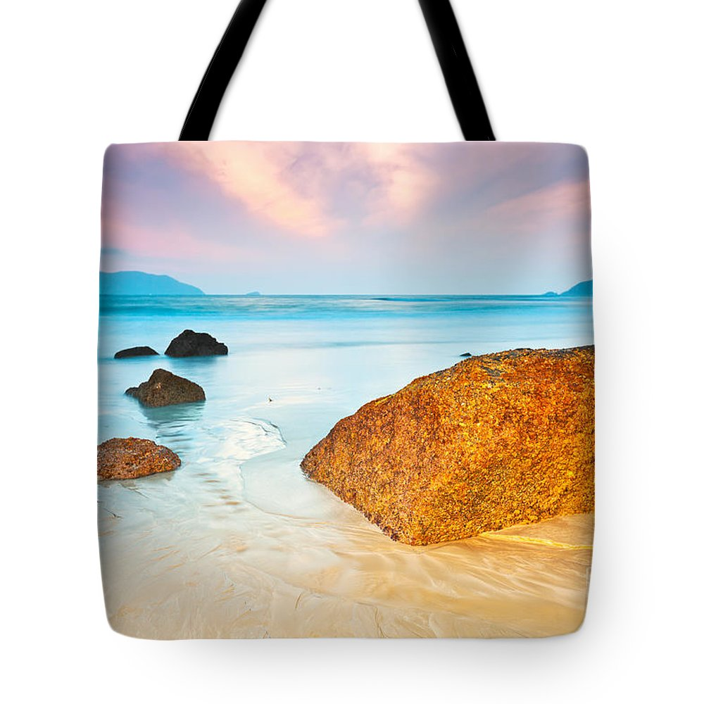 Beach Sunset Tote Bags