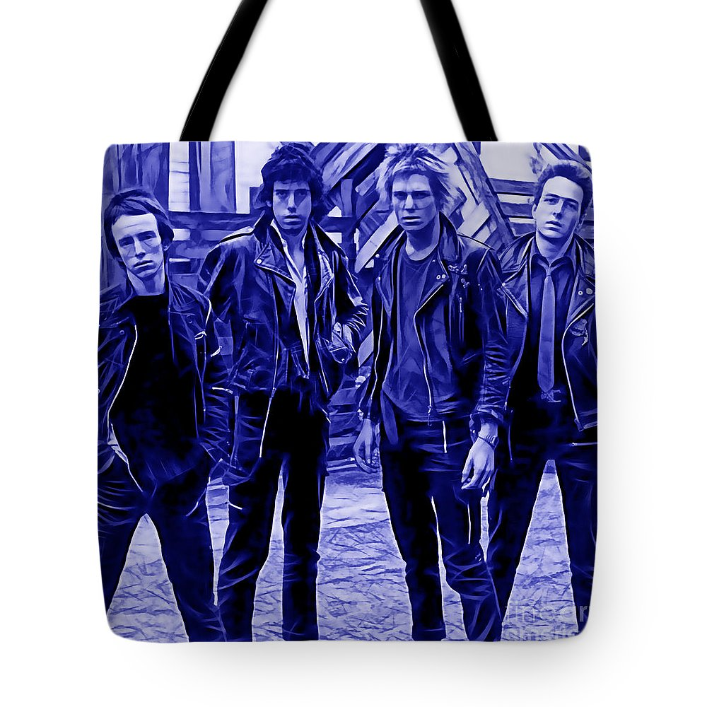 The Clash Tote Bag featuring the mixed media The Clash Collection by Marvin Blaine
