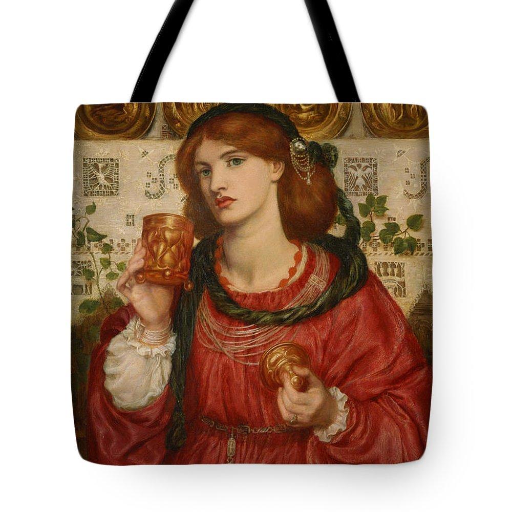 Dante Gabriel Rossetti Tote Bag featuring the painting The Loving Cup by Dante Gabriel Rossetti