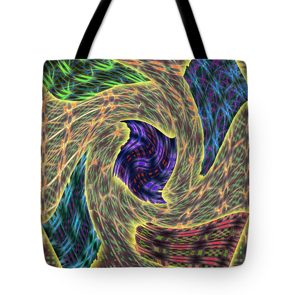 Abstract Tote Bag featuring the digital art 4 U 118 by John Saunders