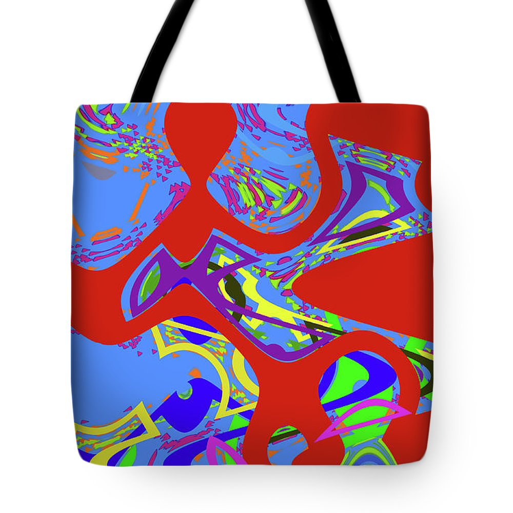 Abstract Tote Bag featuring the digital art 4 U 321 by John Saunders