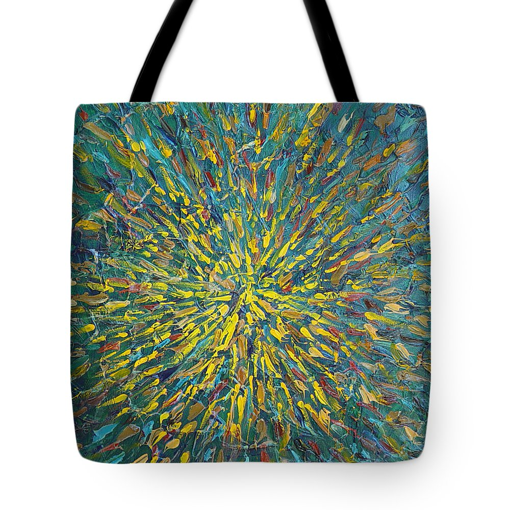 Abstract Tote Bag featuring the painting Untitled by Dean Triolo