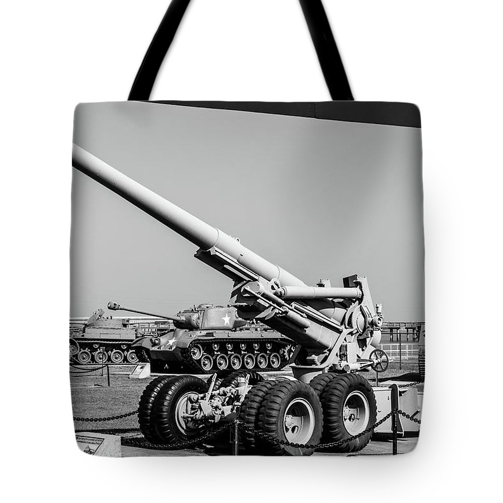 World War Two Tote Bag featuring the photograph Uss Alabama Museum by Ric Schafer