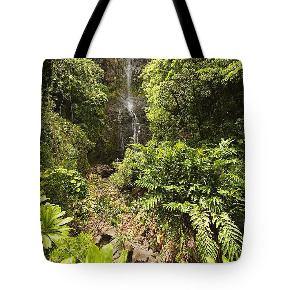 Beautiful Tote Bag featuring the photograph Wailua Falls by Ron Dahlquist - Printscapes