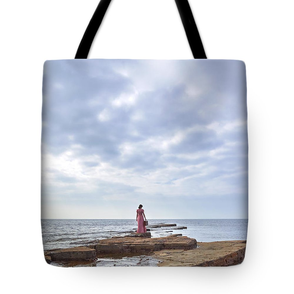 Tote Bag featuring the photograph Walking Into The Sea by Joana Kruse