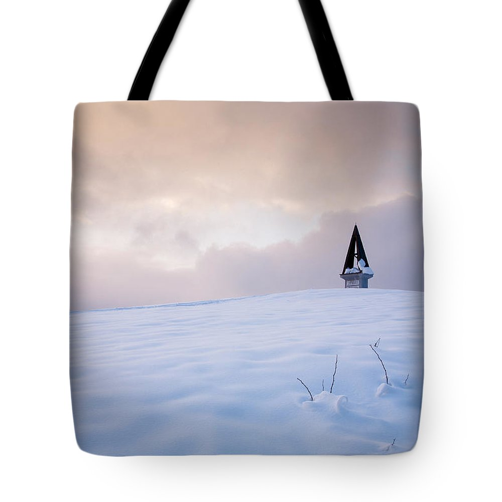 Mountains Tote Bag featuring the photograph Winter Sunset by Ian Middleton