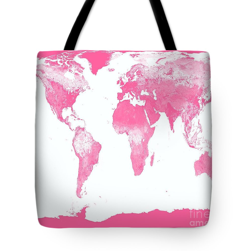 Map Tote Bag featuring the photograph World Map by Johari Smith