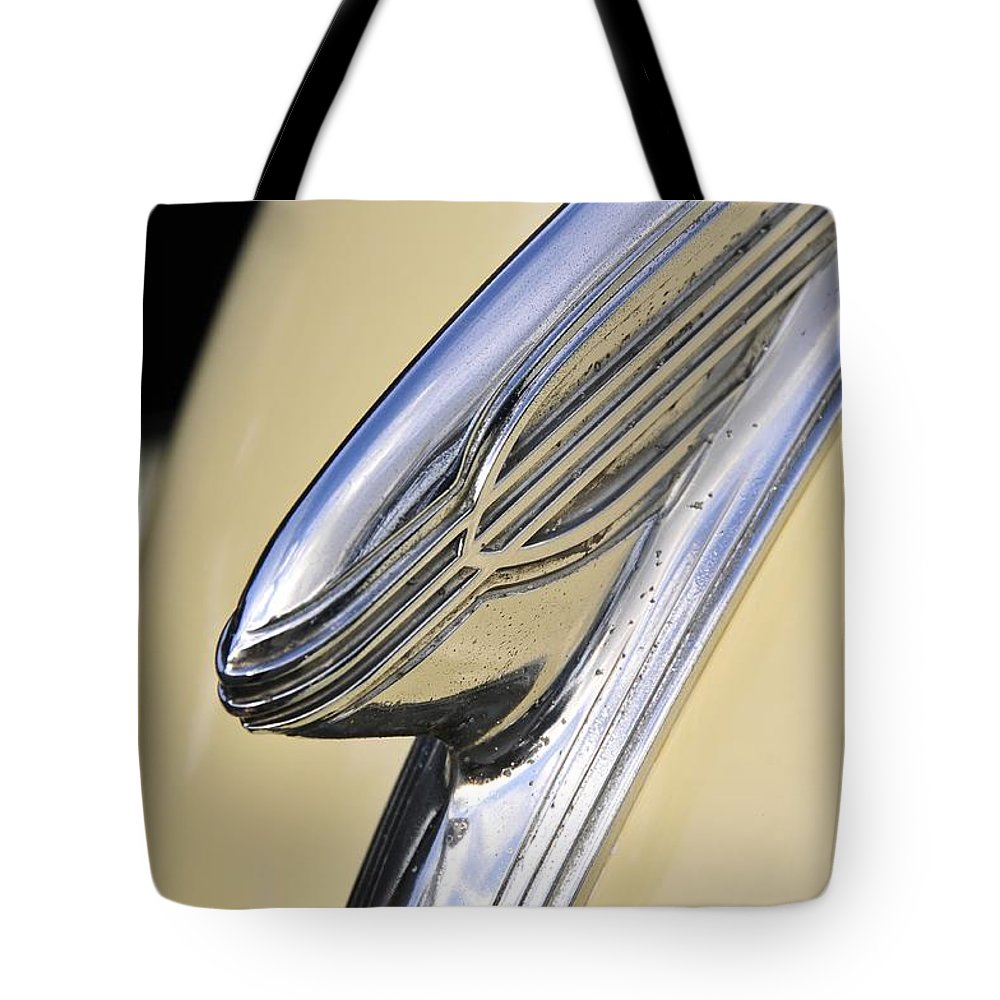 1940s Tote Bag featuring the photograph 40s Hudson Chrome by David Lee Thompson
