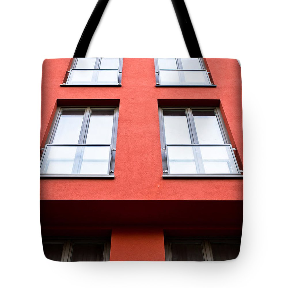 Apartment Tote Bag featuring the photograph Modern Building by Tom Gowanlock