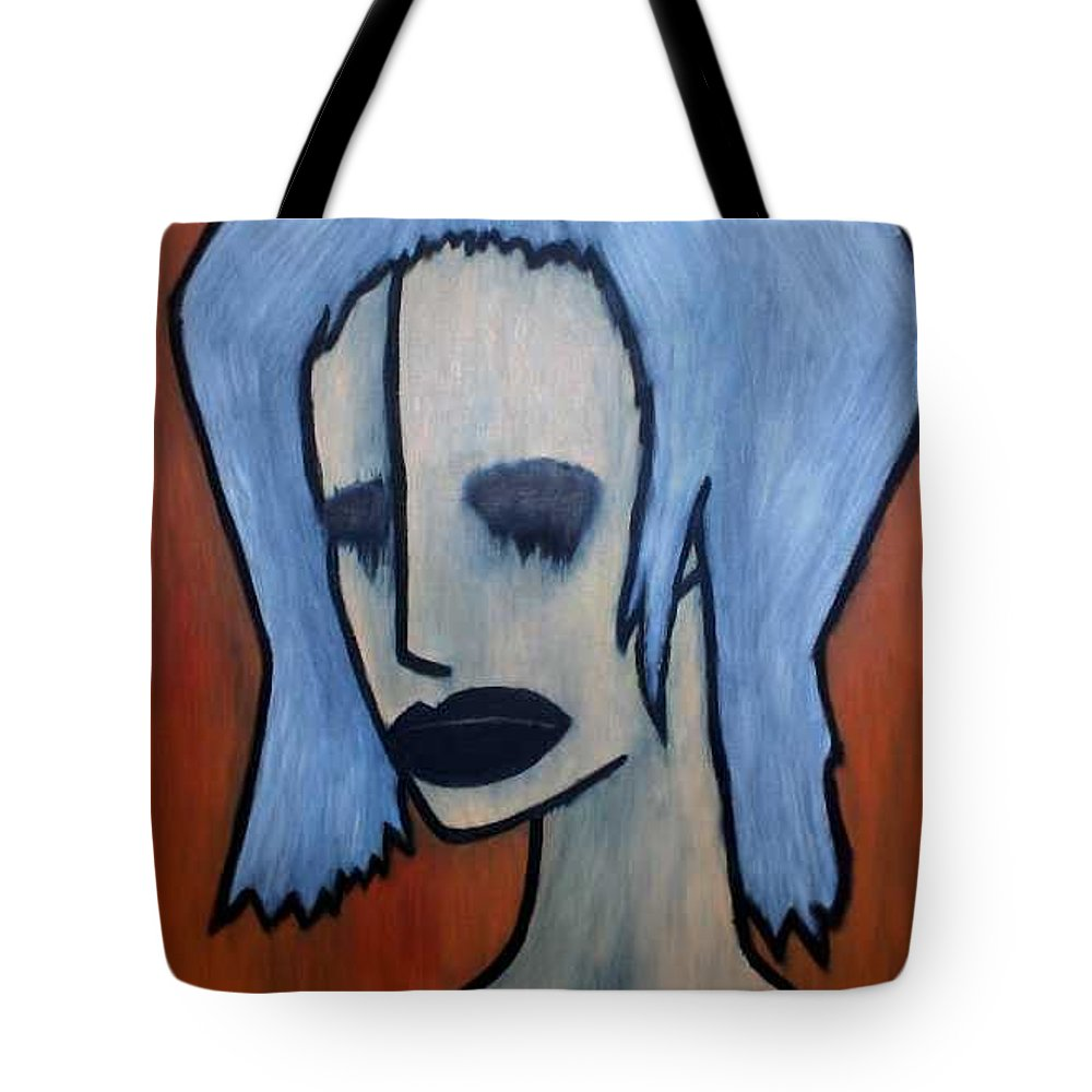 Potrait Tote Bag featuring the painting Halloween by Thomas Valentine