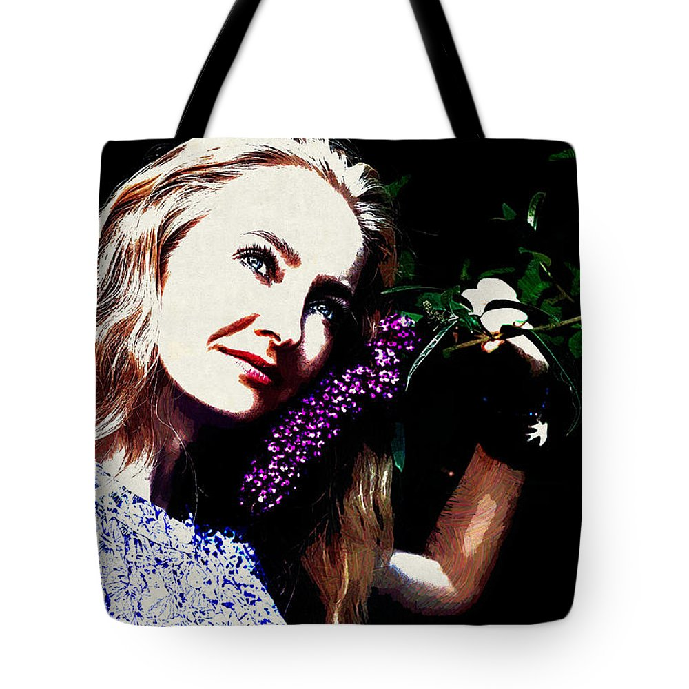 Model Tote Bag featuring the digital art Model by Lora Battle