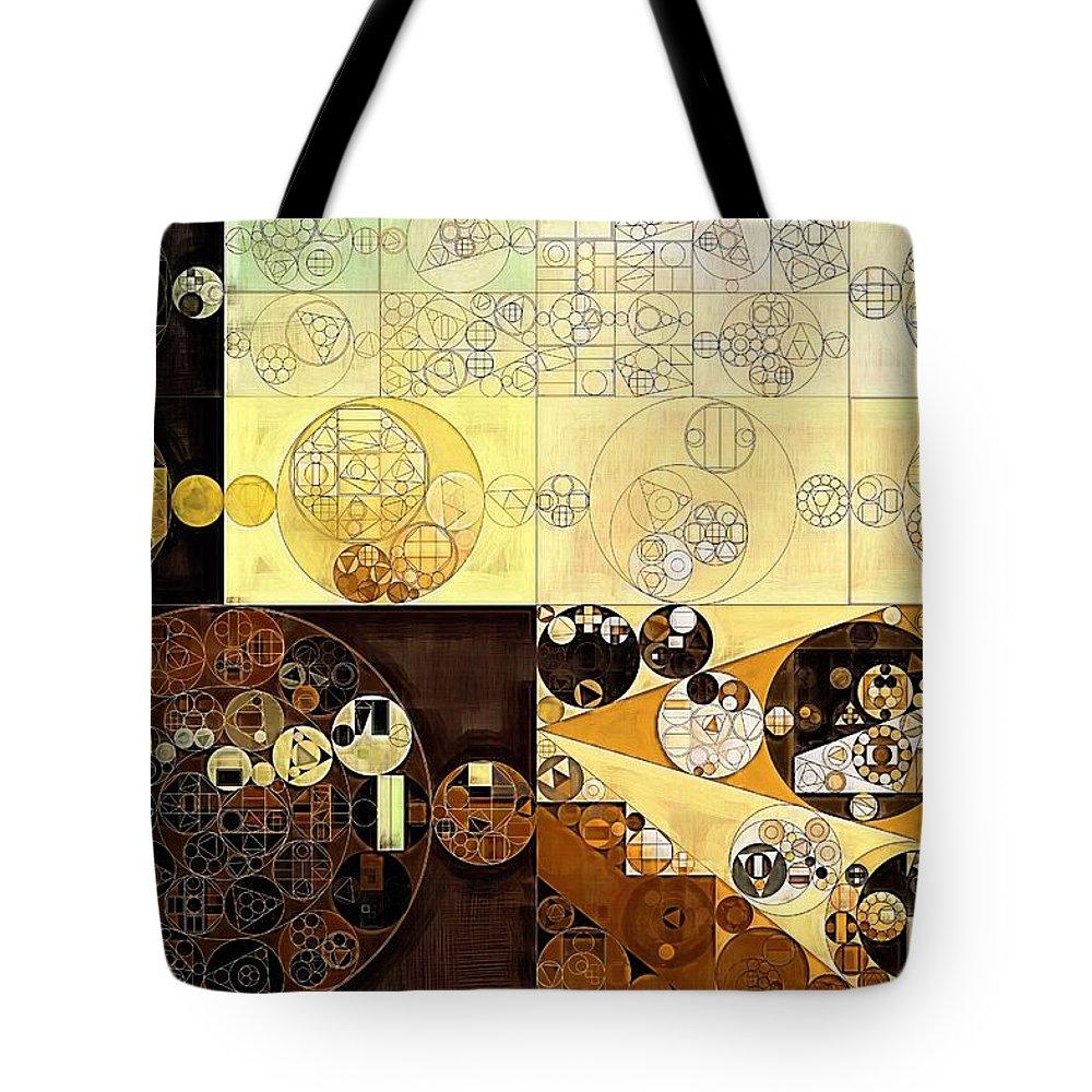 Creation Tote Bag featuring the digital art Abstract Painting - Zinnwaldite Brown by Vitaliy Gladkiy