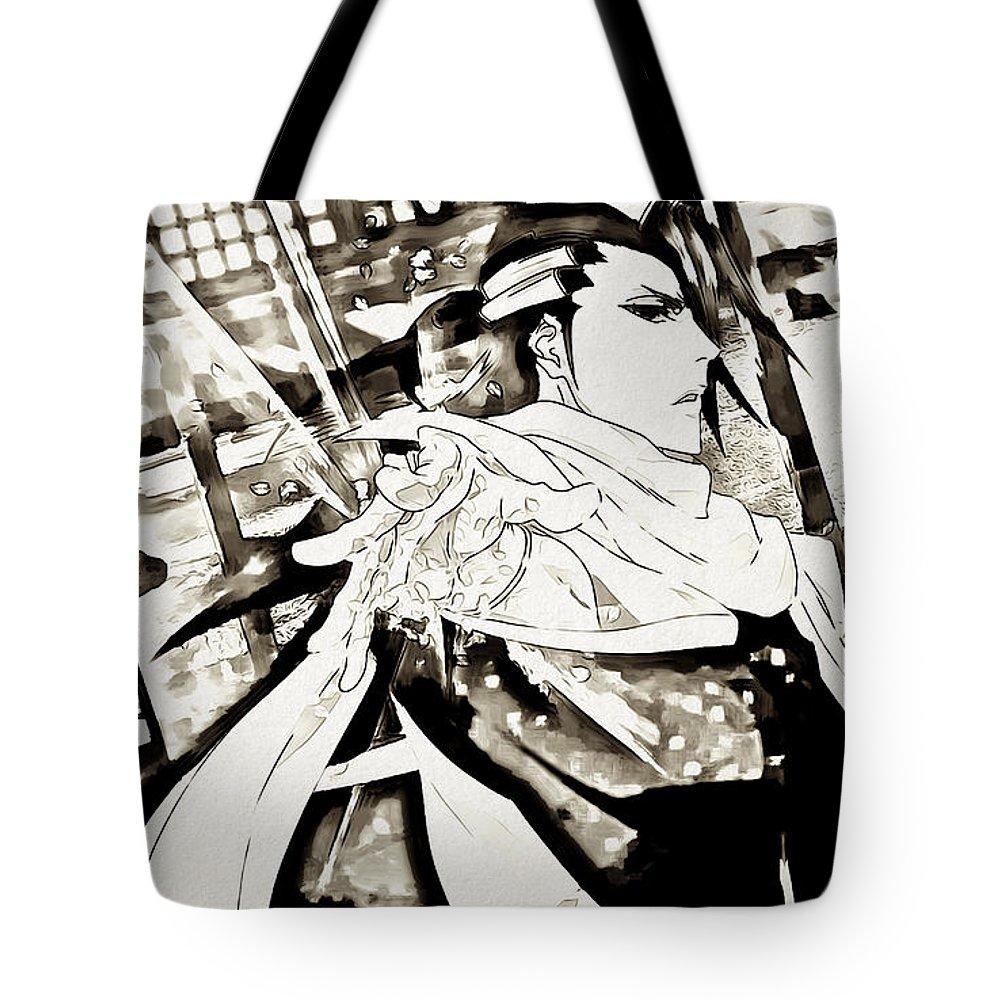 Bleach Tote Bag featuring the digital art Bleach by Lora Battle