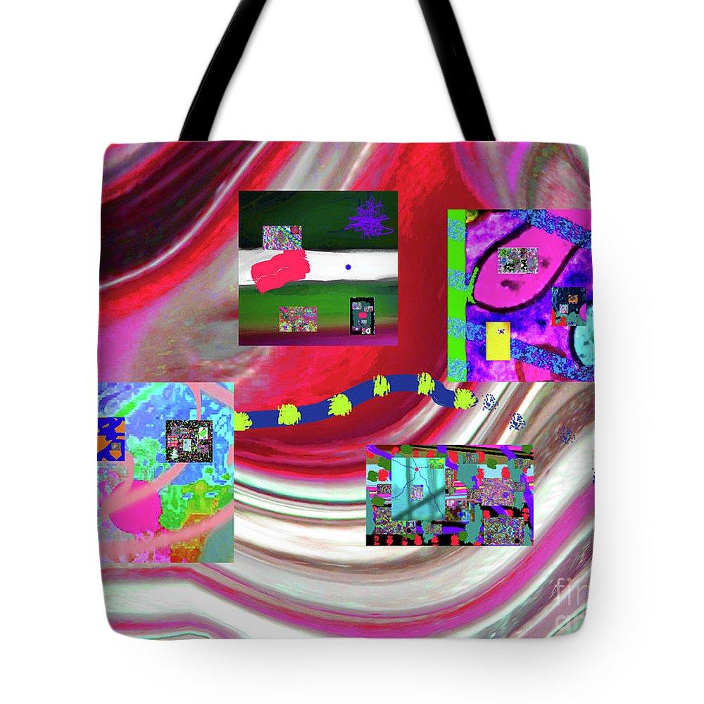 Walter Paul Bebirian Tote Bag featuring the digital art 5-3-2015eabcdefghijklmnopqrtuvwxyzabcdefghij by Walter Paul Bebirian