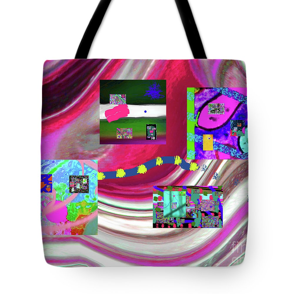 Walter Paul Bebirian Tote Bag featuring the digital art 5-3-2015eabcdefghijklmnopqrtuvwxyzabcdefghijk by Walter Paul Bebirian