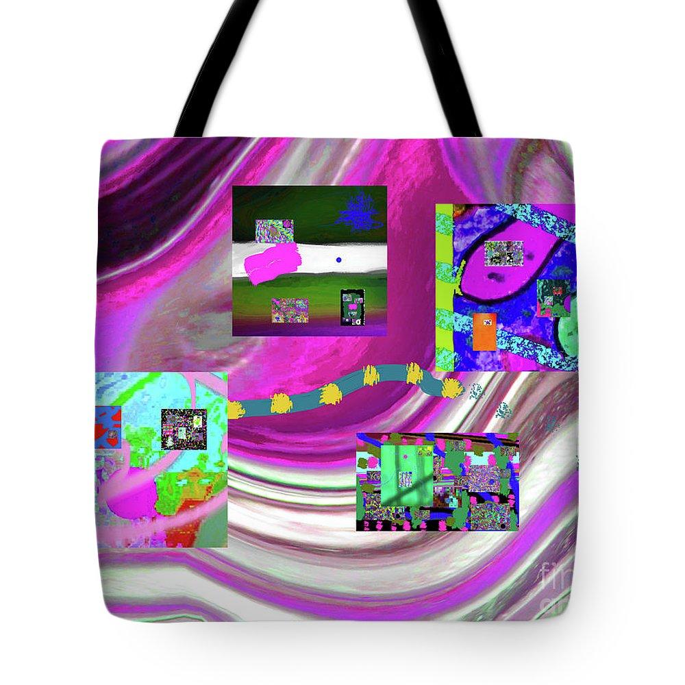 Walter Paul Bebirian Tote Bag featuring the digital art 5-3-2015eabcdefghijklmnopqrtuvwxyzabcdefghijklm by Walter Paul Bebirian