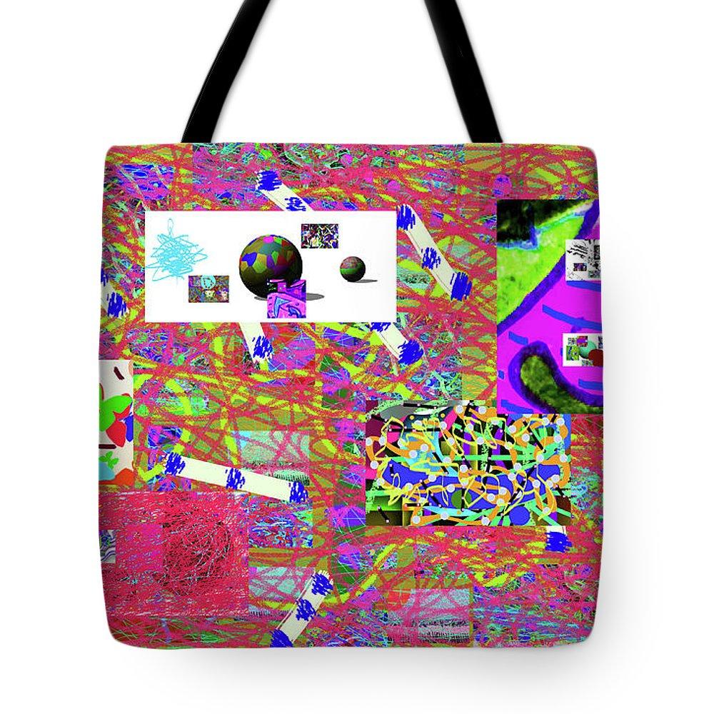 Walter Paul Bebirian Tote Bag featuring the digital art 5-3-2015gabcde by Walter Paul Bebirian